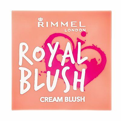 2X RIMMEL LONDON - ROYAL CREAM BLUSH 001 PEACH JEWEL -New and Sealed