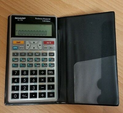 sharp el 738 10 digit financial calculator business calculator el738 rh picclick com