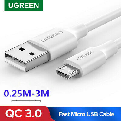 Ugreen Micro USB Cable FAST Charge Data Cord Cable for Huawei Samsung White
