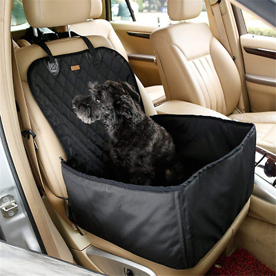 2 in 1 Pet Seat Cover Waterproof Dog Car Front Seat Crate Cover Protector Mat