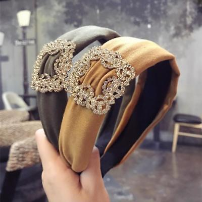 Head Band Fold Ribbon Pearl Zircon Korean Style Headbands Women Hair Accessories