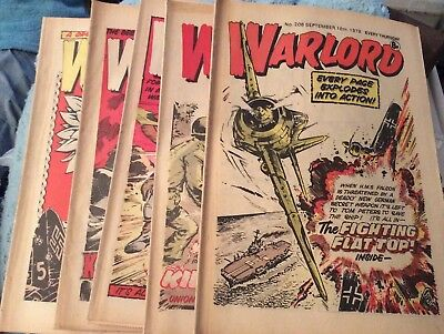 5 Vintage 'Warlord Comics' Issue # 208, 209, 210, 212, 213, (all 1978)
