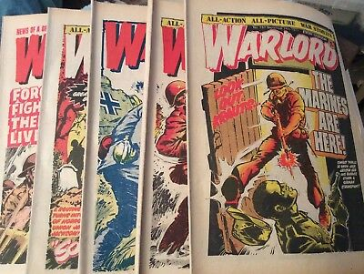 5 Vintage 'Warlord Comics' Issue # 157, 158, 159, 160, 161, (all 1977)