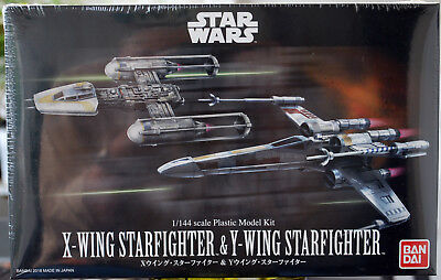 Star Wars X-Wing Fighter & Y-Wing Fighter 1:144 Bandai 228377 neu 2018