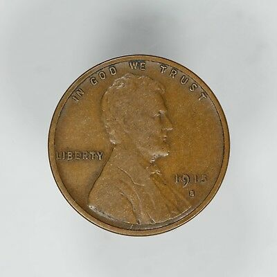 1915 S Lincoln Wheat Cent Penny 1C Vf Very Fine  (6352)