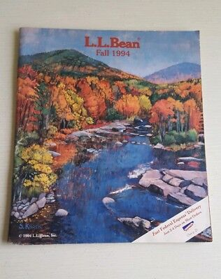 L.L. Bean Fall 1994 Catalog~Sara Knock Artist~Brook/Stream~Sporting Goods~Maine