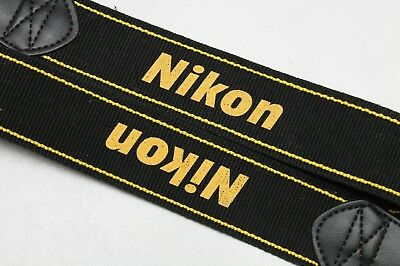 Original Nikon Black and Gold Wide Neck Strap for DSLR SLR Bodies (2)