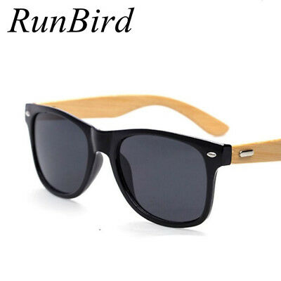 Handmade Natural Bamboo Wooden Sunglasses Men Polarized Mirrored Driver Designer