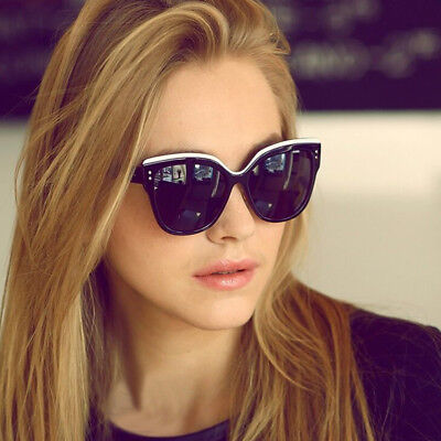 Retro Cat Eye Oculos Sunglasses Butterfly Plastic Frame Large Mirror For Woman