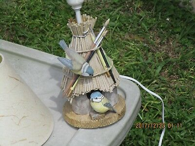 Marjolein Bastin Desk Lamp Bird House Nature's Sketchbook Rare, original shade.