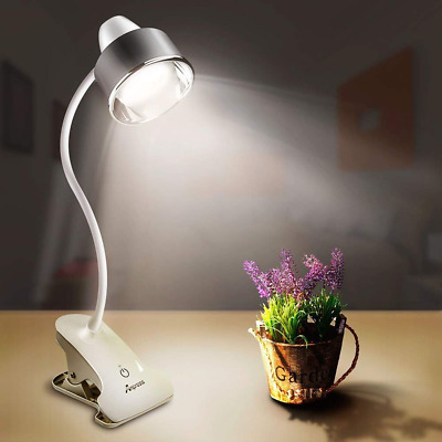 6W Dimmable Clamp on Desk Light Flexible Clip on Music Stand Book Reading Lamp