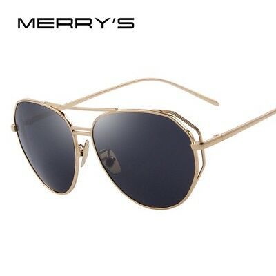 Sunglasses Double Bridge Polarized Retro Fashion Designer Eyewear Shield Woman