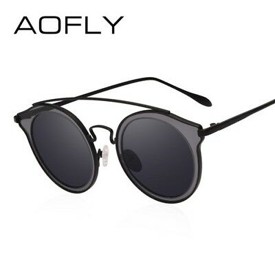 Sunglasses Polarized Vintage For Woman Round Retro Mirrored Steampunk Fashion