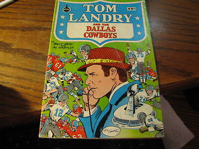 1973 Tom Landry And The Dallas Cowboys Comic Book     Flat DD