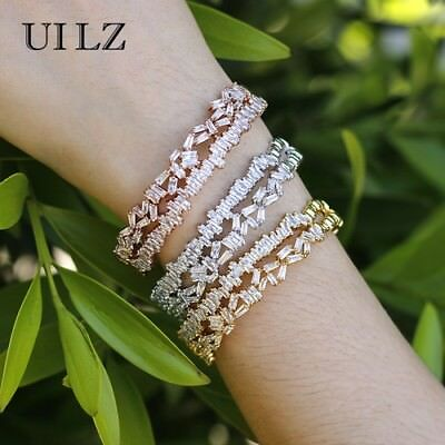 Cubic Zirconia Plant Charm Bracelets And Bangles Fashhion Jewelry For Women