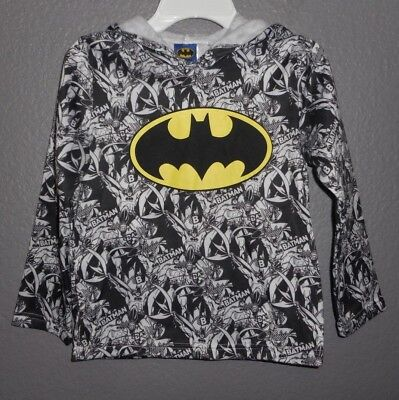 Batman Hooded Superhero Sweatshirt Hoodie Boy's size 7  EUC