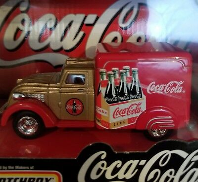 Matchbox Coca Cola 1937 Dodge Airflow. New In Box. Free Shipping!