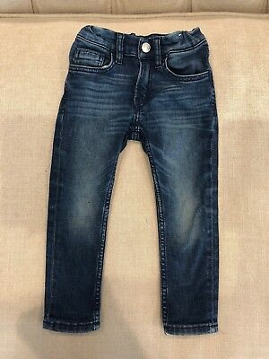 Used H&M Boys Toddler Jeans Dark Wash Super Stretch 2 3 Years