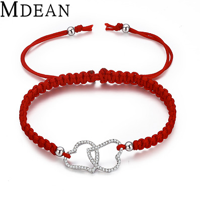 NEW Rope Bracelet Vintage Chain Stainless Steel Heart Jewelry Fashion For Women