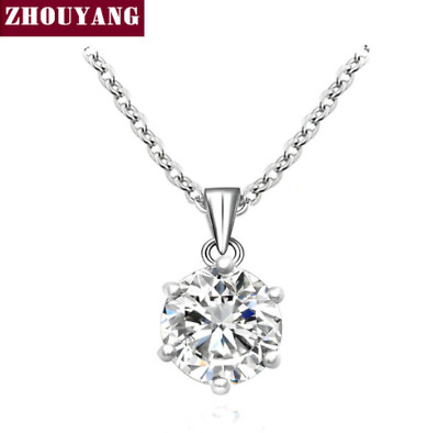 Noble Crystal Silver Gold Color Pendant Women Necklace Jewelry Austrian Crystal
