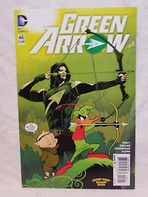 Green Arrow #46 (Jan 2016 DC) Daffy Porky Looney Tunes Variant Comic Book