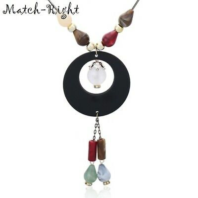 Round Sweater Immitation Pearl Statement Long Necklaces & Pendants Women Jewelry