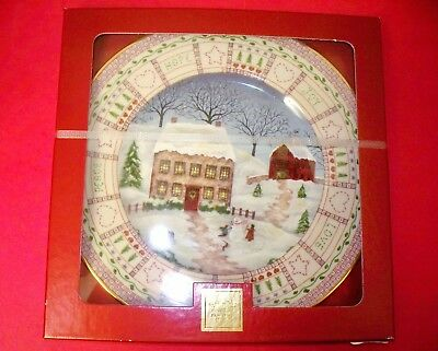 Lenox 2002 Limited ED Collector Plate An American Quilt Building A Snowman (ACS)