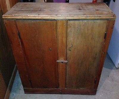 Antique Primitive Cupboard Jelly Cabinet Country Rustic, Solid w/ Great Patina