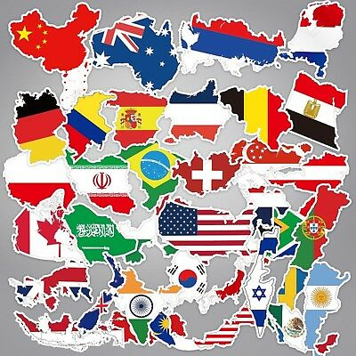 Mixed National Flag Stickers 5 10 25 pcs Luggage Suitcase Decal Countries Travel