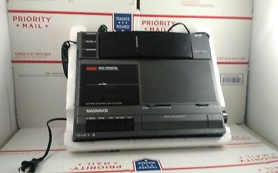 MAGNAVOX D7549 AMFM Radio Cassette Phone Alarm ClockAnswer Device -Fast Delivery