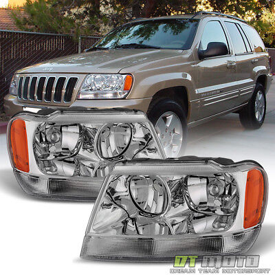 1999-2004 Jeep Grand Cherokee Limited Headlights Replacement 99-04 Left+Right