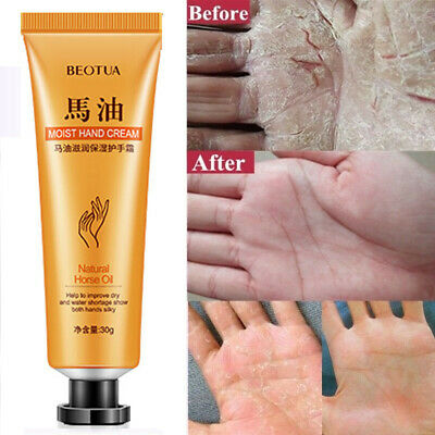 Portable Horse Oil Hand Cream Ointment Moisturizing Hand Care Lotion Cream 30g