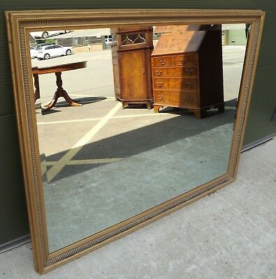 Large Gilt-Framed Bevel-Edged Wall Mirror in the Antique Style (131cm x 100cm)