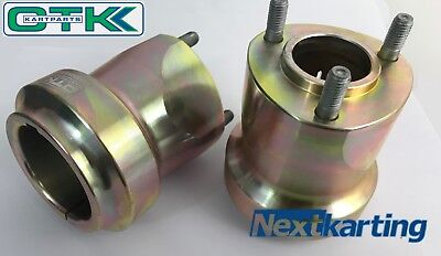 X2 OTK Tony kart Medium 92mm Rear Wheel Hubs -HST Magnesium - OTK Genuine