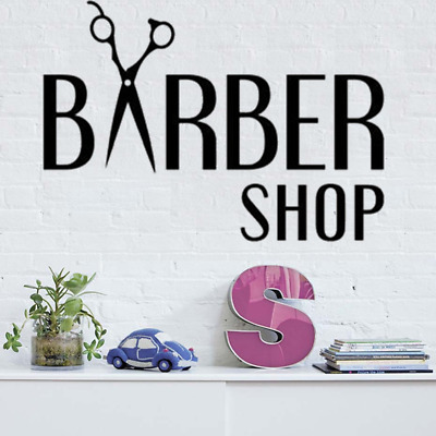 Barbershop Wall Decal Barber Shop Vinyl Sticker Hair Salon Art Decoration Mural