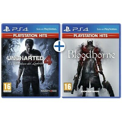 UNCHARTED 4 + BLOODBORNE PS4 HITS JUEGOS FÍSICOS 2x1 PLAYSTATION 4