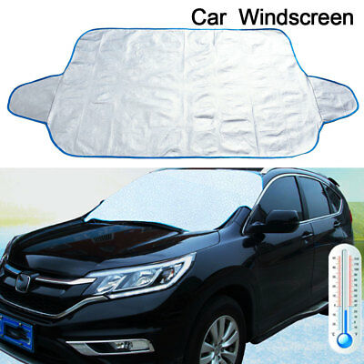 Large Car Windscreen Cover Ice Frost Shield Snow Dust Uv Protector Sun Shade
