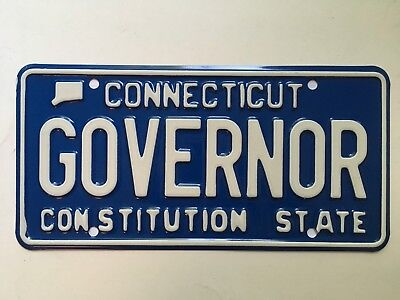 1980's Connecticut Governor License Plate Political (See photo of plates on car)