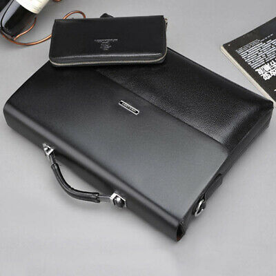 Men's leather Briefcase Waterproof Shoulder Messenger Bags Business Laptop Bags