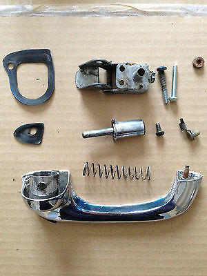 Mustang OUTSIDE DOOR HANDLE AND BUTTON SET LH  - Ford Mustang 1965 66 69 70
