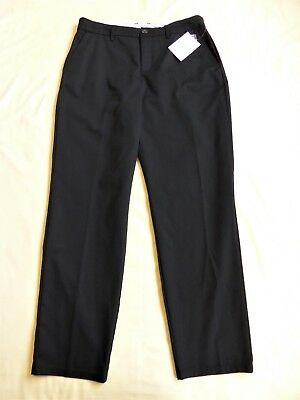 10/12/14/16 CROFT & BARROW Black Classic Pant-Relaxed Mid Rise-Stretch Waist-NWT