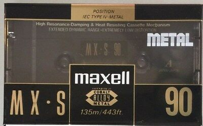 Maxell MX-S 90 Audio Tape 5th Generation New Made in Japan