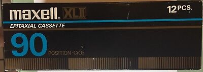 Maxell XLII 90 Audio Cassette Tape 12 New in Box Made in Japan