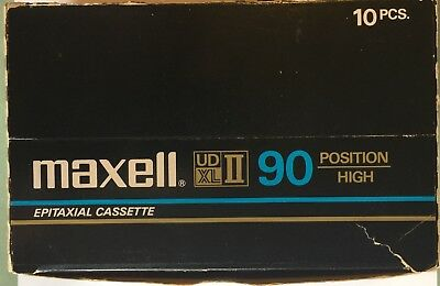 Maxell UDXLII 90 Audio Cassette Tape 10 New in Case Made in Japan