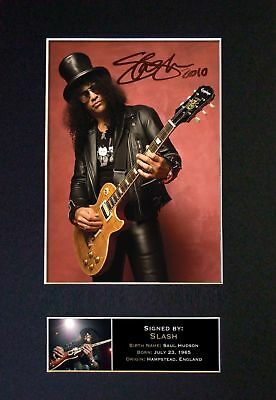 Slash (Guns N Roses) - Signed Autographed / Photograph + FREE WORLDWIDE SHIPPING