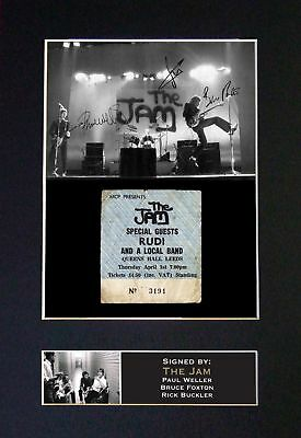The Jam - Signed / Autographed Photograph + FREE WORLDWIDE SHIPPING
