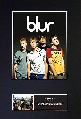 BLUR - Signatures / Full Band Autographed Photograph - Museum Grade Condition