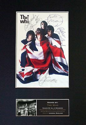 The Who - Full Band Signatures / Autographed Photograph - Mounted Ready To Frame