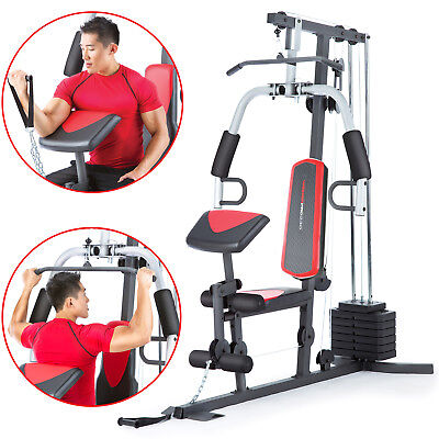 Home Gym Fitness Train Whole Body Exercise Workout Machine 214 Lbs Resistance