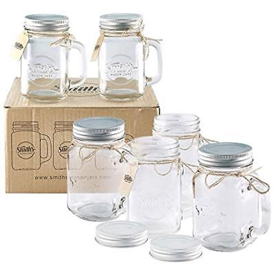 Smith's Mason Jars 6 X 16oz Mugs With Lids, Great Old Fashioned Glasses.